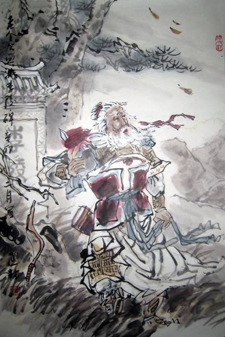 李陵碑 常法宽(北京)   碰碑殉节事堪哀,宁死不屈何壮哉!